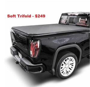 Soft Tri Fold Tonneau Covers Bed Covers Chevy GMC Ford F150 F-150 Dodge RAM 1500 Silverado Sierra Tonno Covers