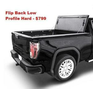 FLIP BACK TONNEAU COVERS TRI FOLD BED COVERS CHEVY CHEVROLET GMC FORD DODGE RAM 1500 SILVERADO SIERRA F150 F-150 TONNO