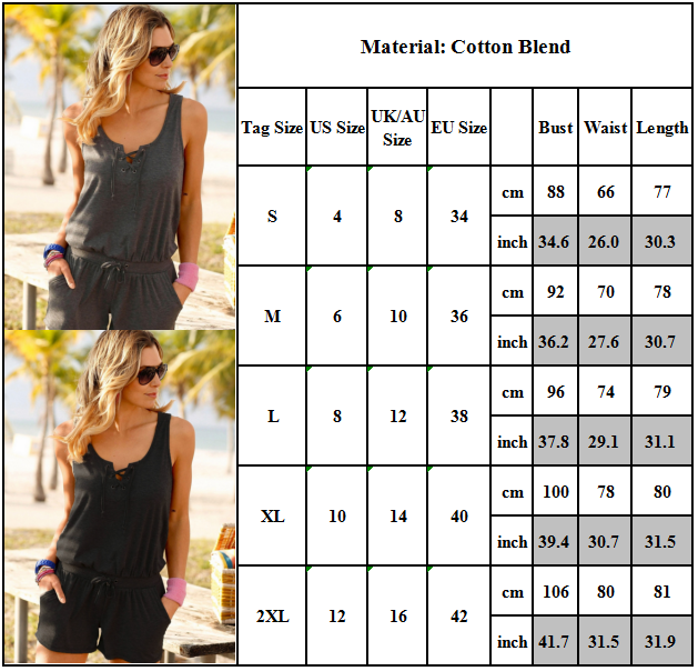 Women Mini Playsuit Jumpsuit Romper Ladies Summer Holiday Beach Playsuit Outfit Clothing, Shoes & Accessories