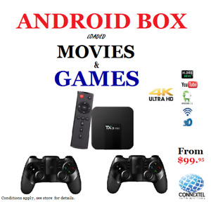 Android Box Kodi Movies Video games installed