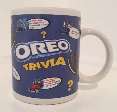 Oreo Cookies Trivia 8 oz Blue Coffee Mug Cup Nabisco