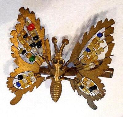 Original alter Christbaumschmuck aus Messing Schmetterling auf Clips