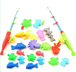 Magnetic fishing game toy rod 10 fish hook catch kids for Toddler fishing game free