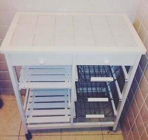 White Storage Kitchen Trolley - Pick Up Only Woolloomooloo Inner Sydney Preview