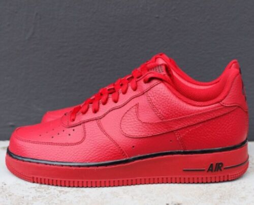 new arrival d5828 a2f84 ... NIKE AIR FORCE 1 Low Gym Red Black Triple All Sz 8 Men Shoes Sneakers  488298 ...