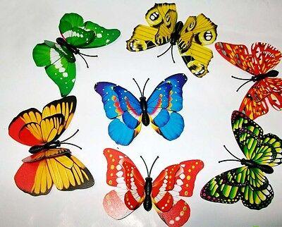 Lot 40 beautiful lovely butterfly magnet fridge refrigerator magenets home decor