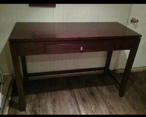 Table console / bureau en bois