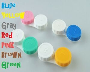 5 x Contact Lens Case Care, Colored Double Box Free Shipping