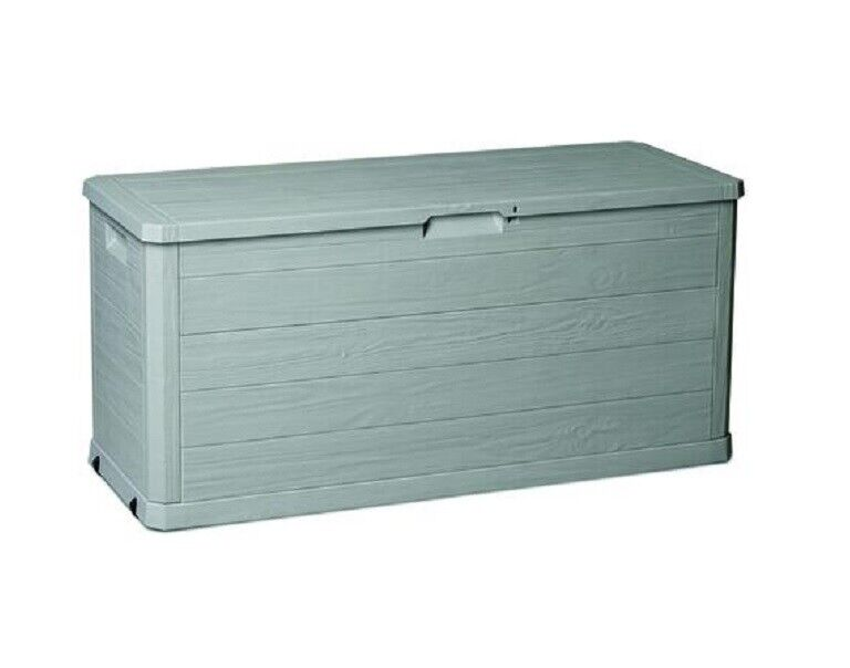 Outdoor 74 Gallon Deck Box With Lid Durable Decorative Stora