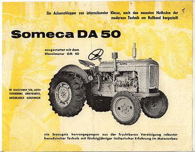Werbung: Someca DA 50, Ackerschlepper intern. Klasse