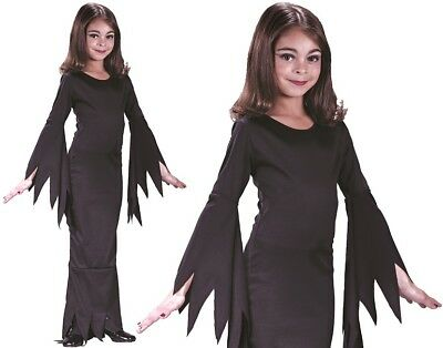 Halloween Fancy Dress Girls Morticia Girl Costume Horror Outfit New ref 9731 - Ref Outfit Halloween