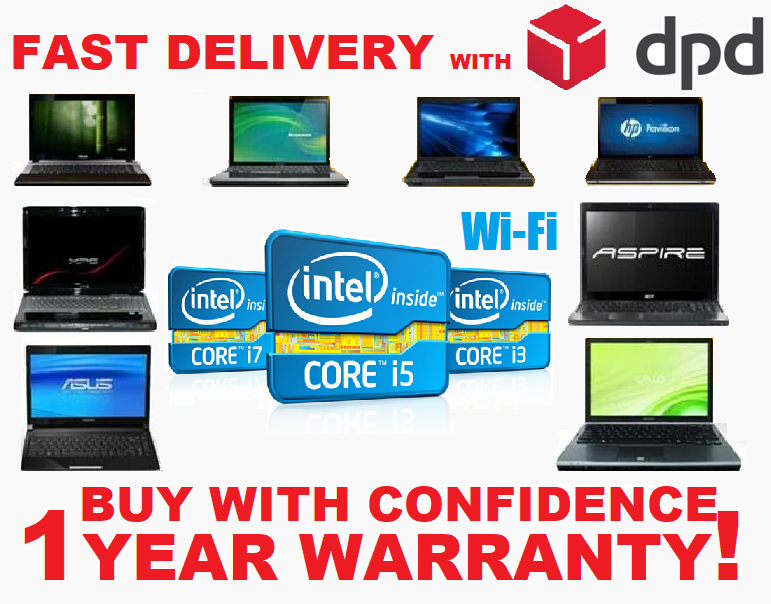 Laptop Windows - CHEAP FAST INTEL CORE i3/ i5/ i7 LAPTOP WINDOWS 10 250GB/500GB HD 8GB RAM WiFi