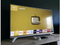 LG 43 inch White/Silver Smart Full HD TV , WebOS, 1080p , WIFI with Freeview HD and Freesat HD