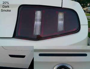 10-12-Mustang-precut-Tail-light-Rear-side-marker-3rd-brake-light-overlays-tint