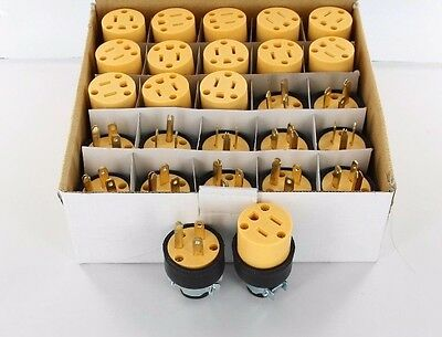 4 Set (8pcs) of Male & Female Heavy Duty 3 Wire Replacement Electrical Plugs