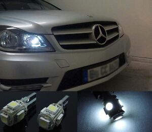 2pcs-Car-Xenon-White-light-5-SMD-Error-Free-LED-Parking-Eyelid-Lights-Bulbs