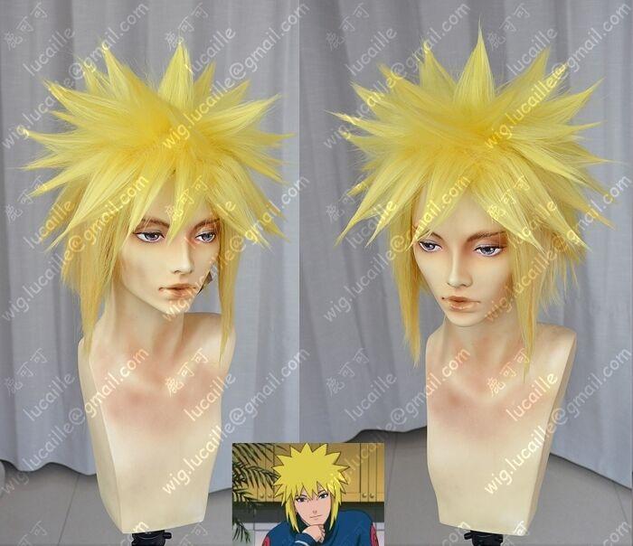 Naruto Namikaze Minato Anime Cosplay Costume Wig +Cap +Track number (need style)
