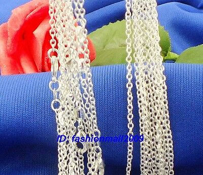"Wholesale 10pcs sterling Silver 1.2mm O chain necklace 22""  on Rummage"