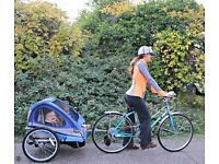 Raleigh bike rear trailer for carrying children multi use.