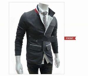 New Stylish Men's Casual Slim Fit Suit Blazer Coat Jacket