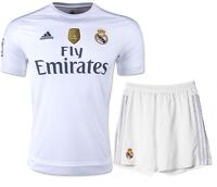 NEW REAL MADRID 2015-16 Home JUNIOR KIT SIZE 8