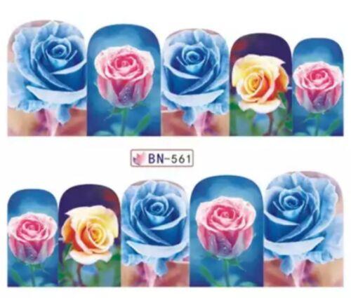 Nagelsticker Nagel Tattoos Blumen Rosen Blüten Rose Nail Sticker Wraps Fullcover