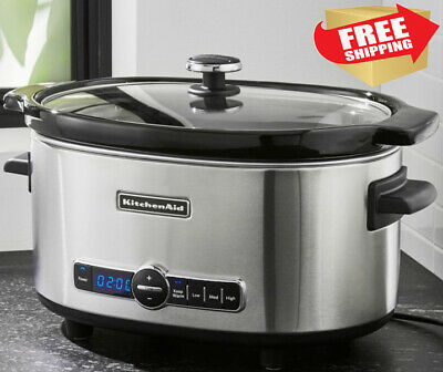 KitchenAid KSC6223SS 6-Qt. Slow Cooker with Standard Lid - Free ship