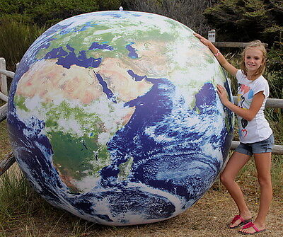 GIANT 6` Inflatable ASTRONAUTS VIEW Earth Globe Beach Ball - NASA Photos - HUGE!