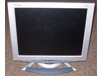"19"" LCD flat-screen computer monitor with VGA cable"