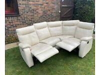 Furniture village cream reclining sofa can deliver