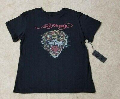 Ed Hardy Black Tiger T-Shirt Medium NWT