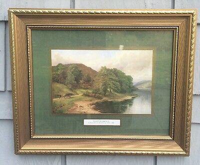 Lake Windermere Painting by James Henry Gossland Manuscript England Antique