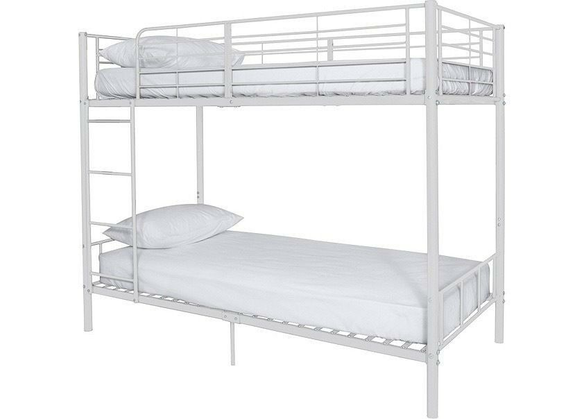 White Argos Madison Bunk Beds Full Size Single In Bournemouth