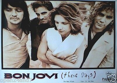 Bon Jovi  These Days   Jon With Arms Folded  Oversized Poster From Thailand