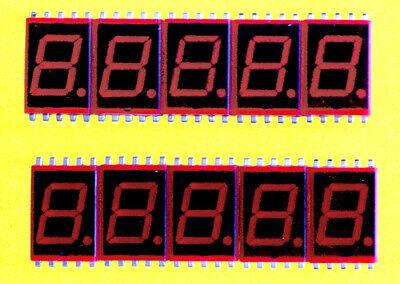 Lot Of 10 Vintage 7-segment Led Indicators Nec 713b