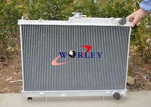 52mm alloy aluminum radiator For Nissan Skyline R33 R34 GTR GTS-T RB25DET Manual