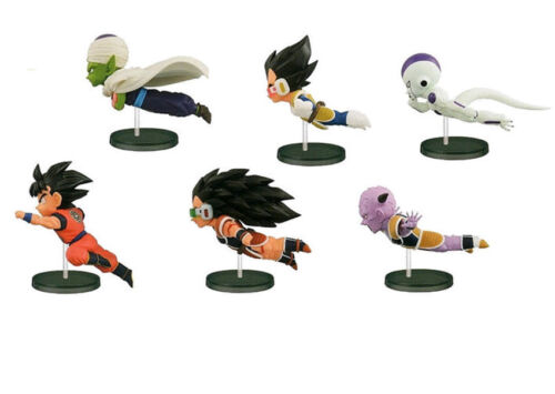6pcs//set Dragon Ball 30th Fly Run Sun Goku PVC Figura Figurilla Modelo