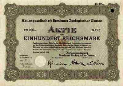 Breslauer Zoologischer Garten 1938 Breslau Wroclaw Schlesien Dresden Leipzig 100