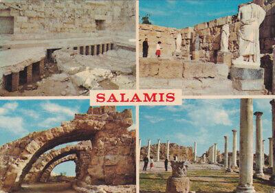 CYPRUS POSTCARD FAMAGUSTA SALAMIS VIEWS