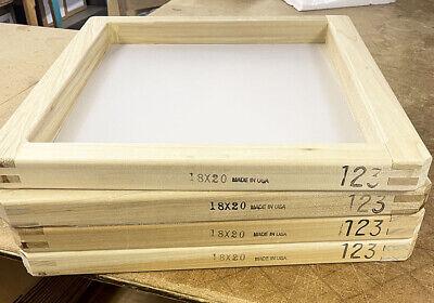 4 Pack 18x20 Wood Screen Printing Frame W 123 Mesh 1820123