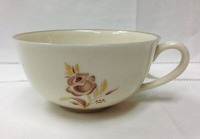"""PICKARD """"BROWN ROSE"""" TEACUP 2"""" HIGH, GOLD IVORY PORCELAIN MADE IN U.S.A."""