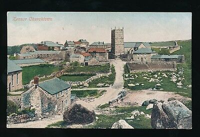 Cornwall ZENNOR Church General view c1900/10s? PPC by Valentine
