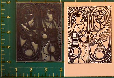 Girl Before A Mirror Pablo Picasso LARGE UM rubber stamp