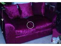 brand new 2 seater ruby crushed velvet sofa