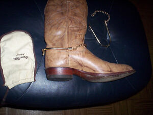 ladies vintage leather cowboy boots riding .. decorative spurs