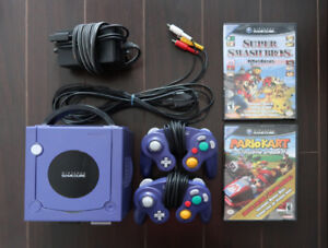GameCube, Mario Kart Double Dash, Smash Bros, 4 Controllers