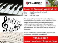 Canadore College, Parry Sound - Learn to Read and Write Music