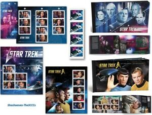 2016 & 2017 Canada Post Star Trek 50th.& Year 2 Stamps Plus Set