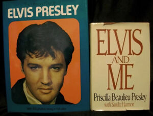 2 Elvis books : Life & Death of EP  ++ Elvis & Me by Priscilla