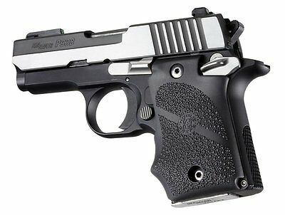 Hogue Sig Sauer P938 Rubber Finger Groove Grip In Black 98080
